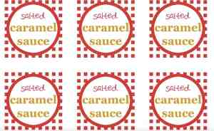 Salted Caramel Sauce Gift Labels