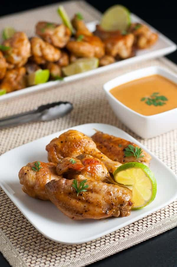 How to Make Spicy Thai Wings. For Sriracha lovers! Spicy wings flavoured with ginger, garlic, coconut milk and lime. Easy Game Day appetizer or weeknight meal. |www.flavourandsavour.com