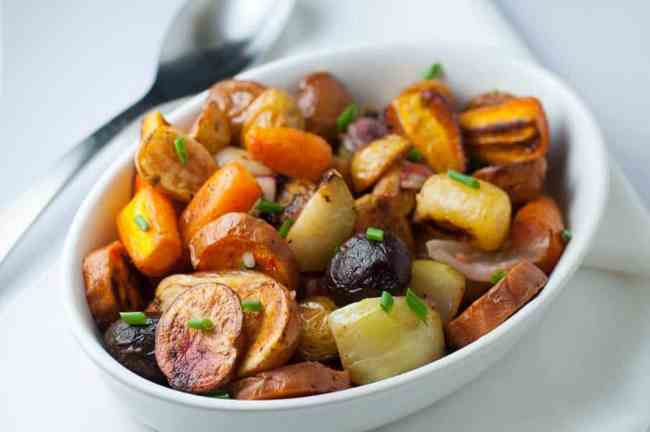 How to make Crispy Apple Cider Roasted Root Vegetables in 3 easy steps