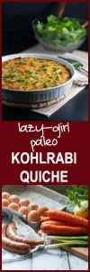 Lazy-Girl Paleo Kohlrabi Quiche. Quick and easy weeknight meal for those nights when you don't feel like cooking! Packed with protein and healthy vegetables. |www.flavourandsavour.com