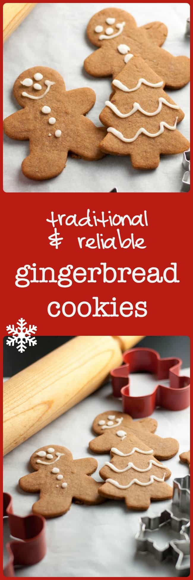 Traditional and Reliable Gingerbread Cut-Out Cookies. A family favourite recipe. Fun to make, fun to decorate! Even more fun to eat.