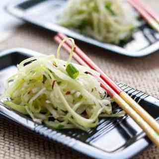 Asian Pear Slaw with Ginger and Lime.