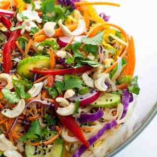 Crunchy Thai Noodle Salad in a serving bowl