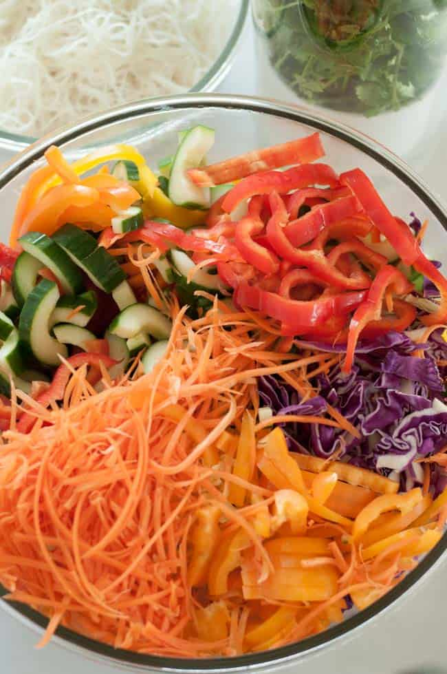 Super Crunchy Noodle Salad with Thai Peanut Dressing