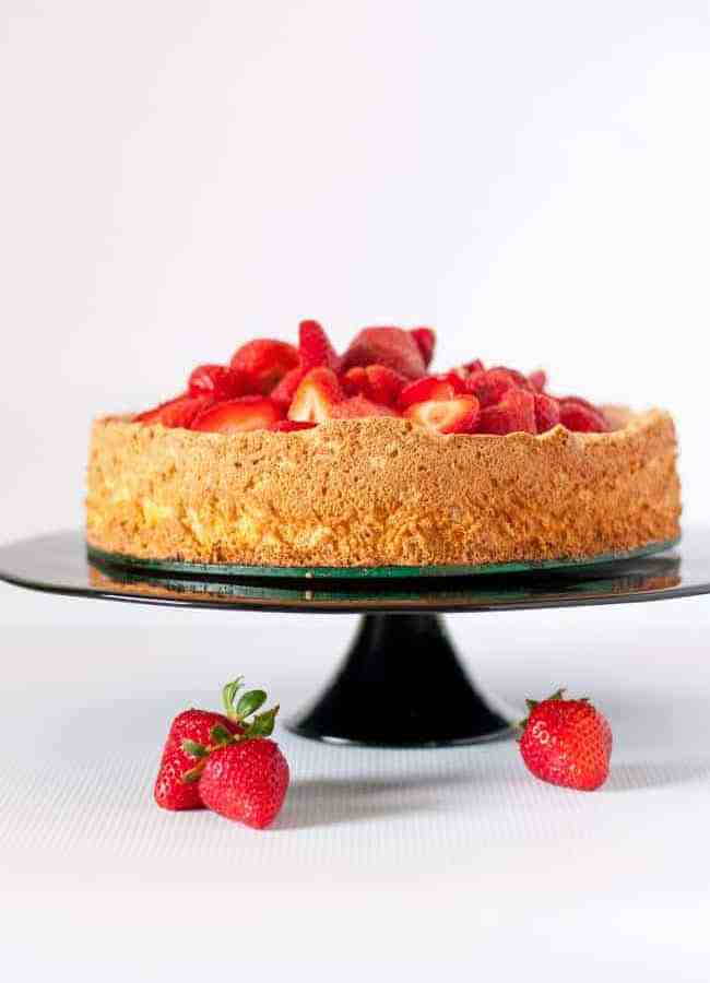 Gluten-Free Lemon Almond Cake with Strawberries
