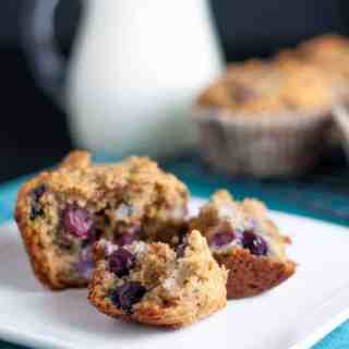 Paleo Blueberry Orange Muffins . Tender grain-free muffins naturally flavoured with fresh blueberries and oranges. |www.flavourandsavour.com