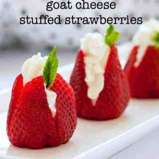 Sweet Goat Cheese Stuffed Strawberries