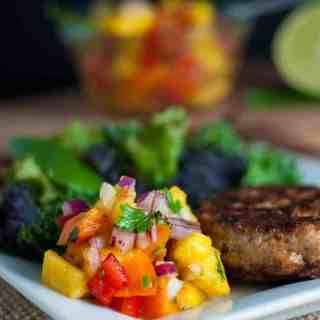 Chipotle Chicken Burgers with Fresh Peach Salsa. Heat up the grill and relax with this easy meal of Chipotle Chicken Burgers with Fresh Peach Salsa. Great for lazy summer days or for busy week nights!|www.flavourandsavour.com