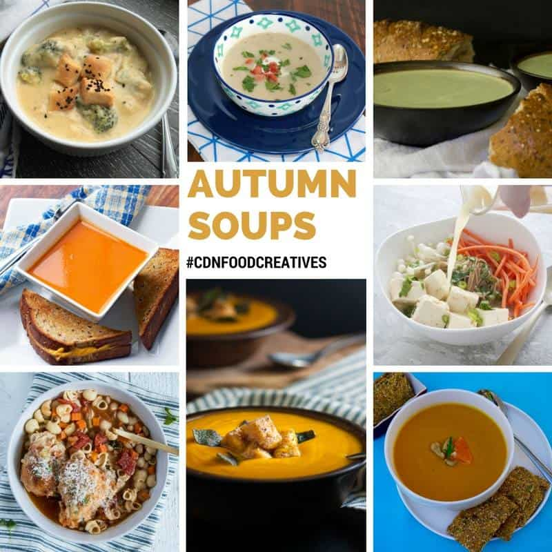 Smoky Chipotle Sweet Potato Soup and a collection of Autumn Soups from Canadian Food Bloggers  www.flavourandsavour.com
