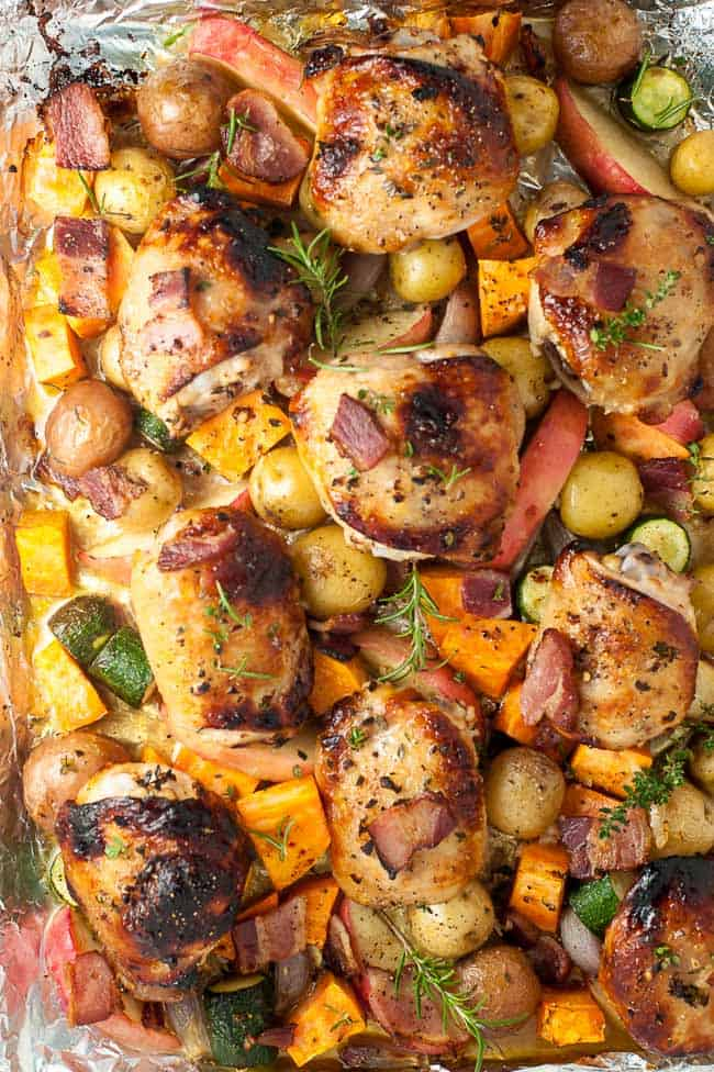 Sheet Pan Chicken And Roasted Harvest Vegetables Flavour