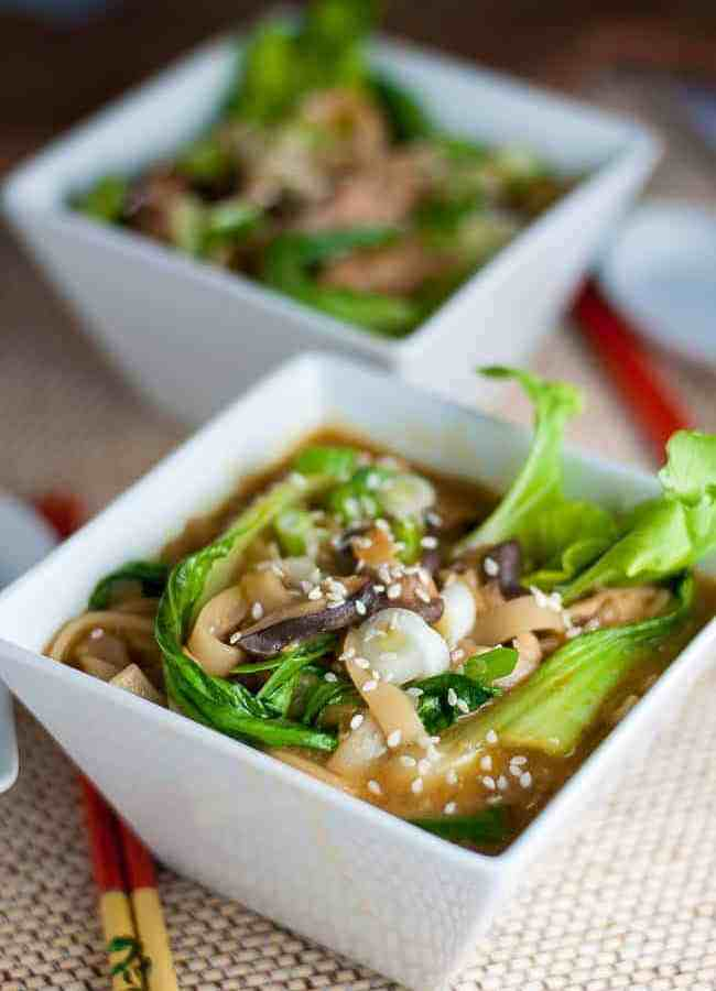 30 Minute Ginger Garlic Miso Soup