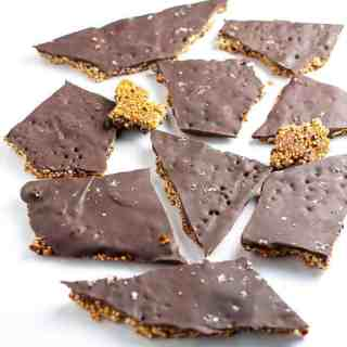 Healthy Quinoa Chocolate Bark