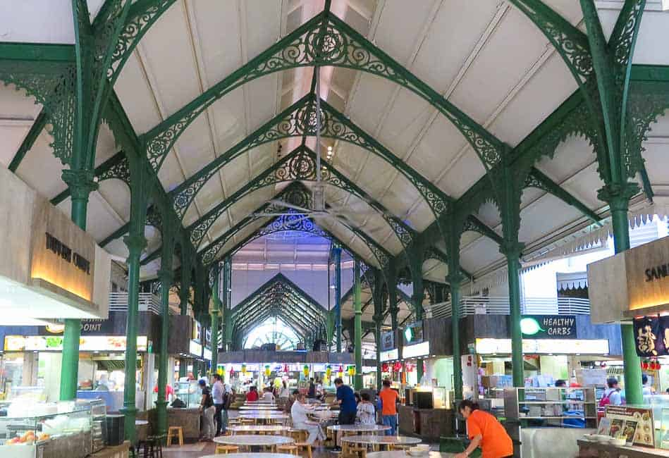 Two Days in Singapore: Must-See Activiites. Hawker Food in Lau Pa Sat