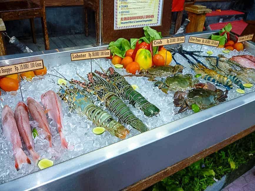Easy Indonesian Fried Rice--Nasi Goreng. Fresh seafood market in Bali