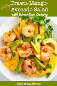 Prawn Mango Avocado Salad with lemon-lime vinaigrette