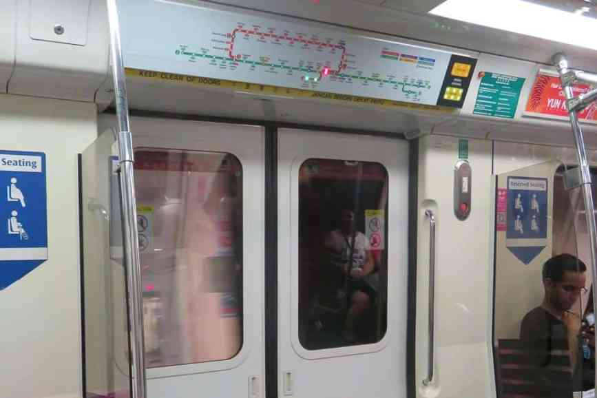 Singapore Metro. Clean and easy to use. Two Days in Singapore: Must-See Activities