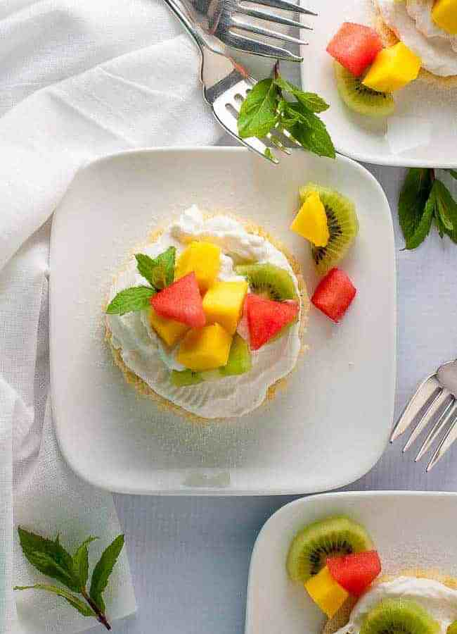 Mini Gluten Free Lemon Fruit Flan