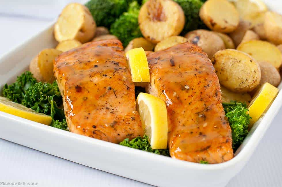Bourbon Maple Glazed Salmon