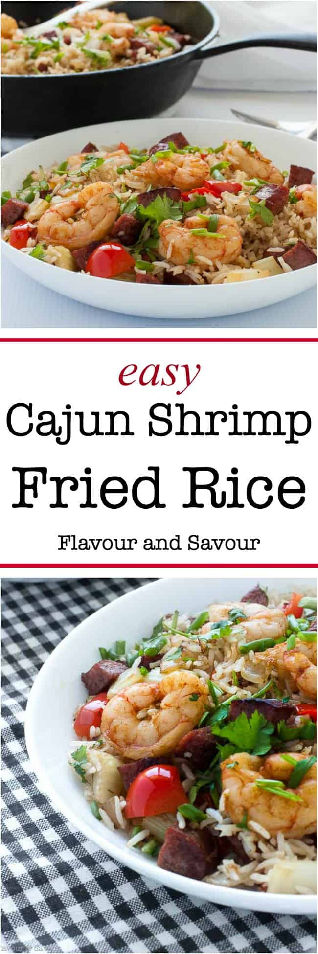 Easy cajun shrimp fried rice flavour and savour this hearty one pot 30 minute cajun shrimp fried rice brings the fabulous spicy forumfinder Image collections