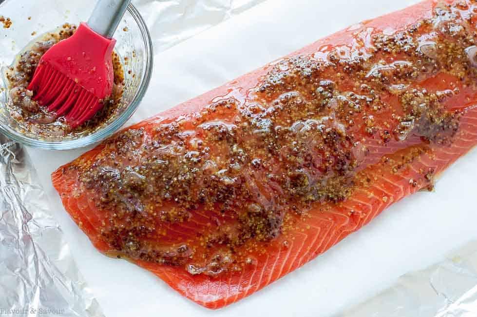 Glazing Honey-Dijon Glazed Salmon
