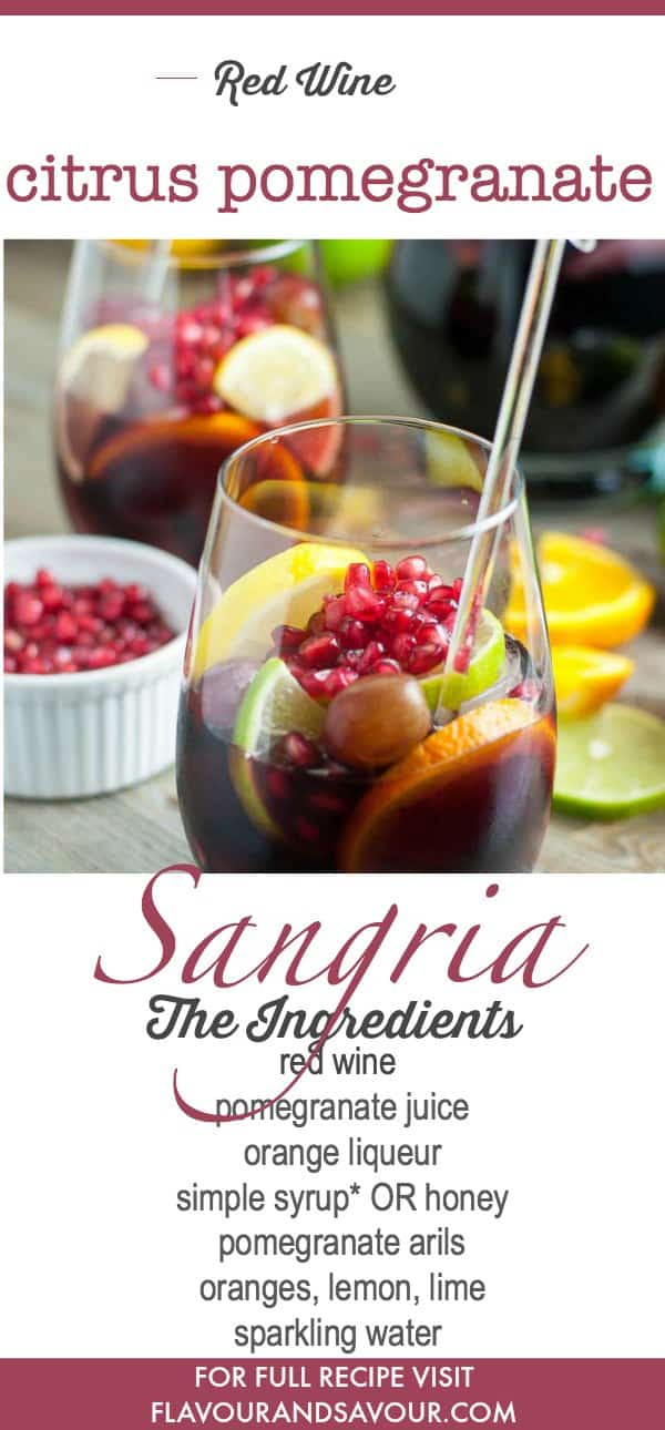 Red Wine Citrus Pomegranate Sangria is perfect for winter celebrations!