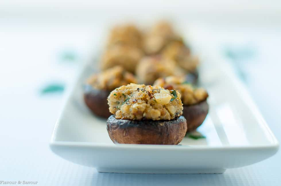 Garlic Lovers' Blue Cheese Stuffed Mushrooms