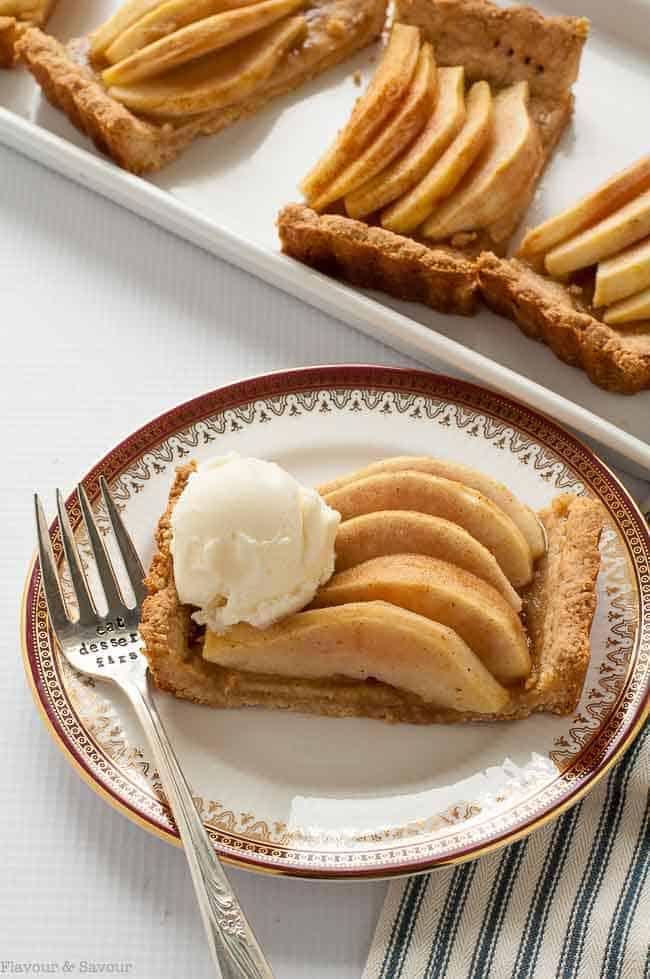 Gluten Free Cinnamon Pear Tart
