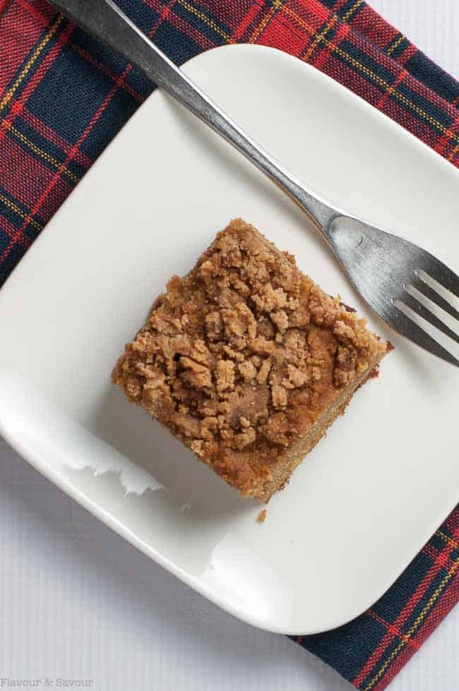 Gluten Free Cranberry Pear Coffee Cake is a tender and delicious treat for morning coffee or even for dessert.
