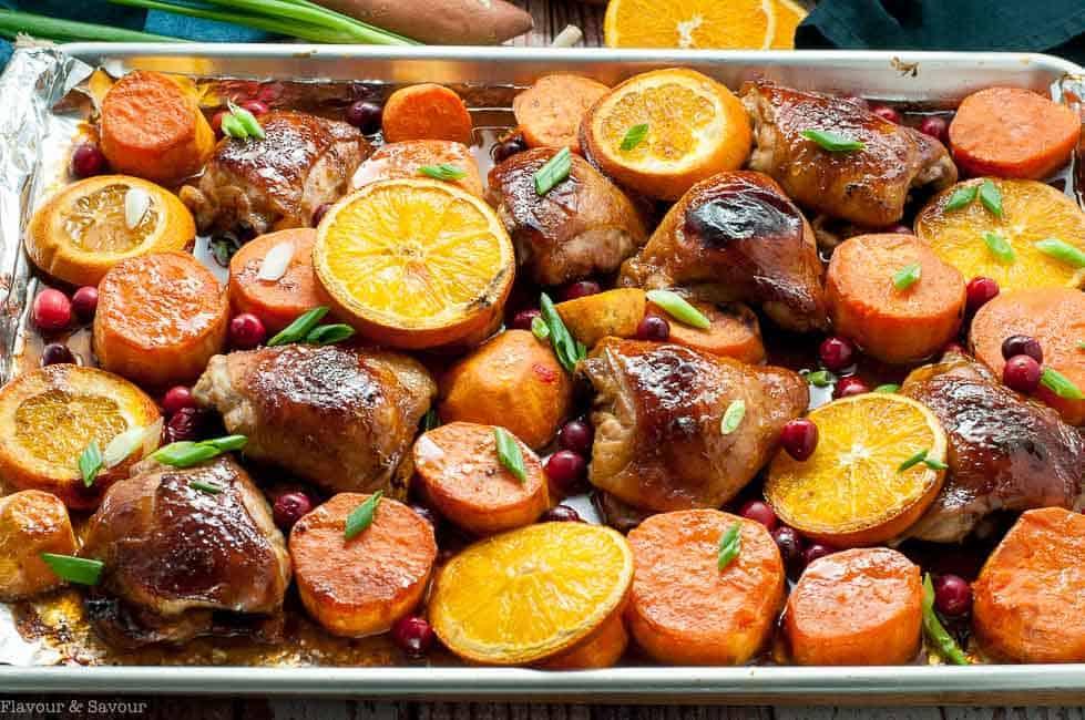 Hoisin Orange Sheet Pan Chicken