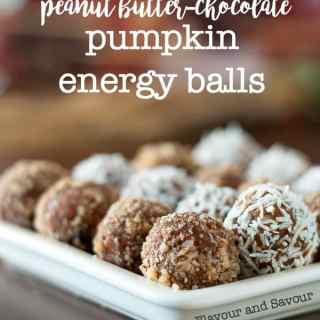 Grain-Free Peanut Butter Chocolate Pumpkin Energy Balls