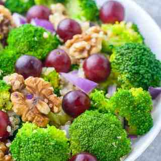 Broccoli Quinoa Salad with Sesame Miso Dressing