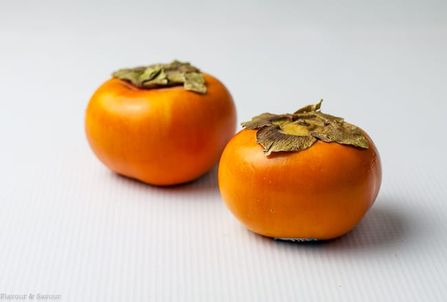 Fuyu Persimmons for Persimmon Prosciutto Cheese Bites