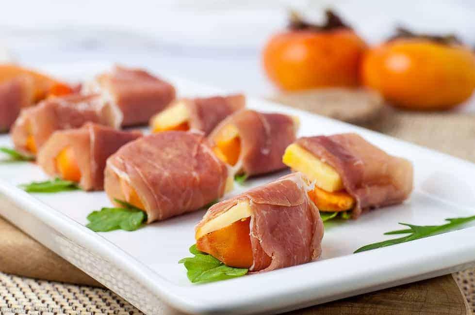 Persimmon Prosciutto Cheese Bites