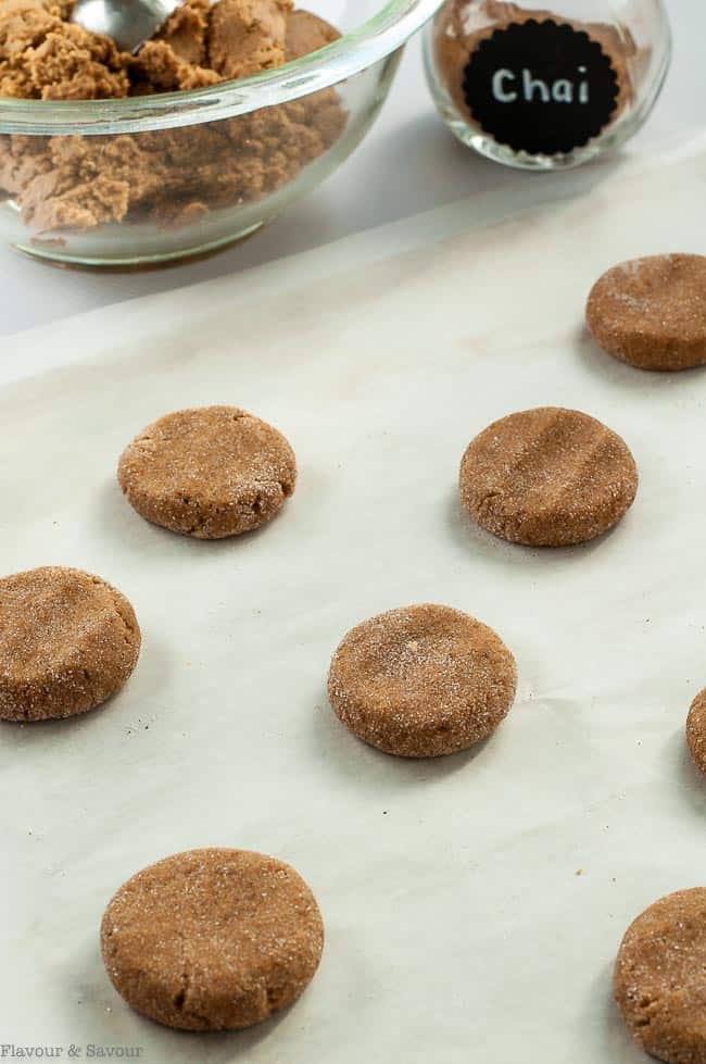 How to flatten dough for Gluten-Free Chai Spiced Snickerdoodles