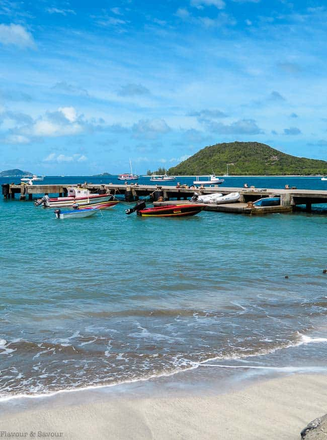 Boats on the beach on Petite Martinique, St. Vincent and the Grenadines
