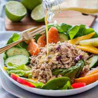 Caribbean Shredded Jerk Chicken Salad