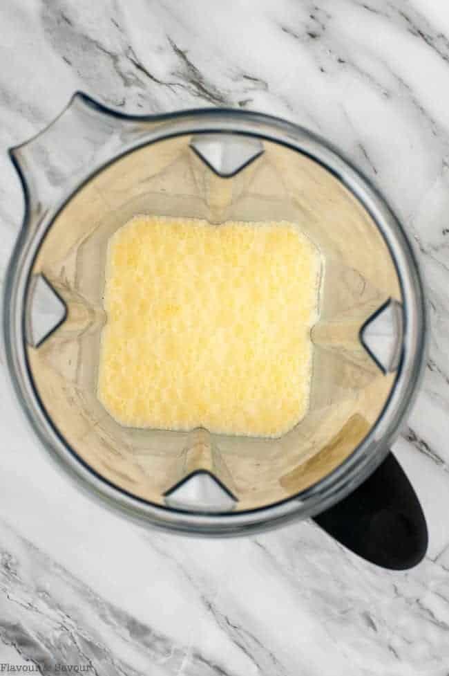 Blending Orange Collagen Creamsicle Shake