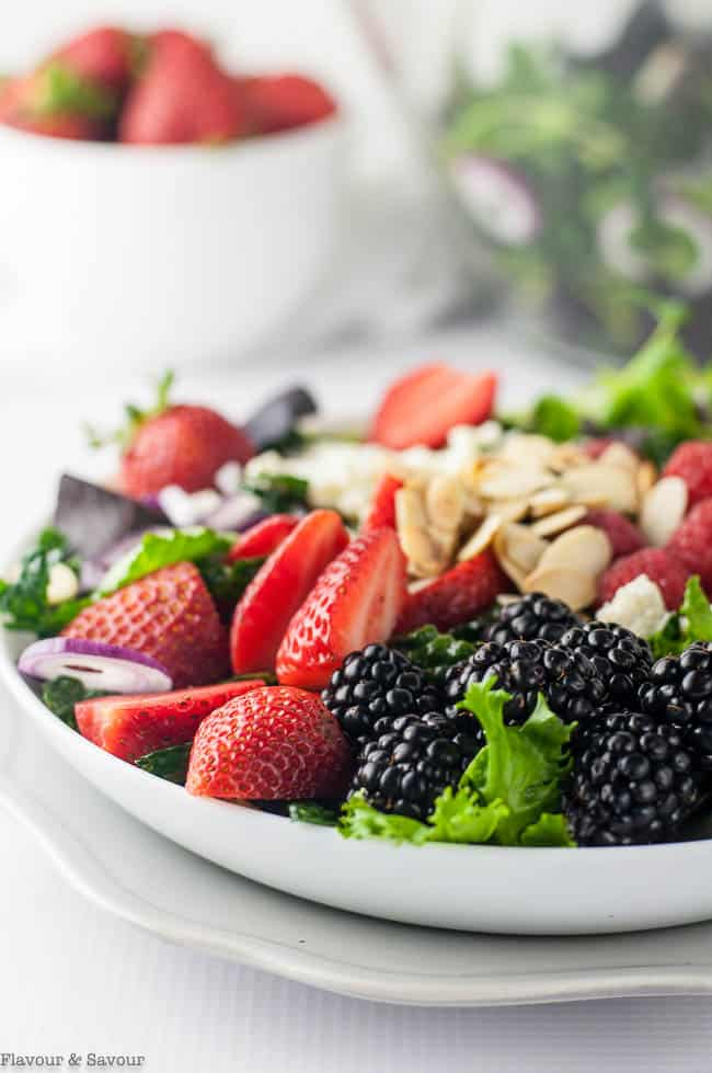 Triple Berry Mixed Green Salad