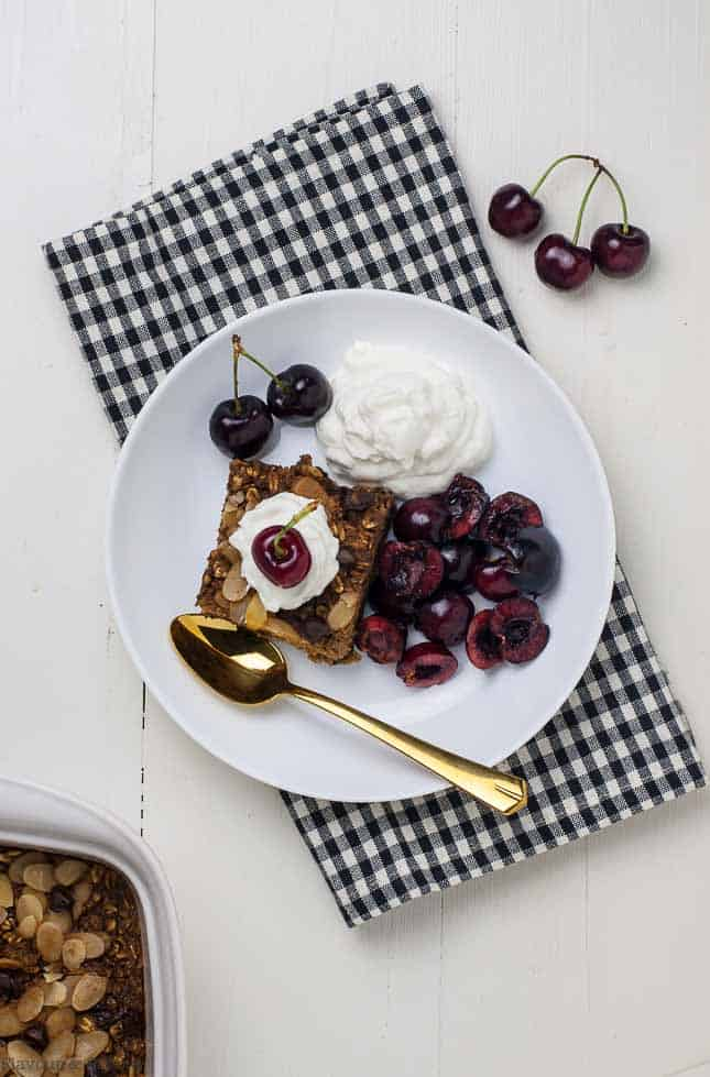 Chocolate Espresso Baked Oatmeal oh