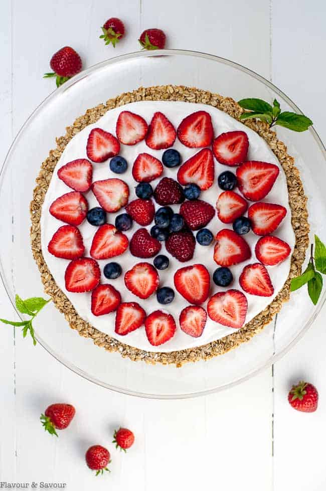 Gluten Free Fruit Pizza Red White and Blue