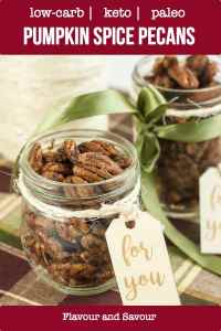 Low-Carb Roasted Pumpkin Spice Pecans