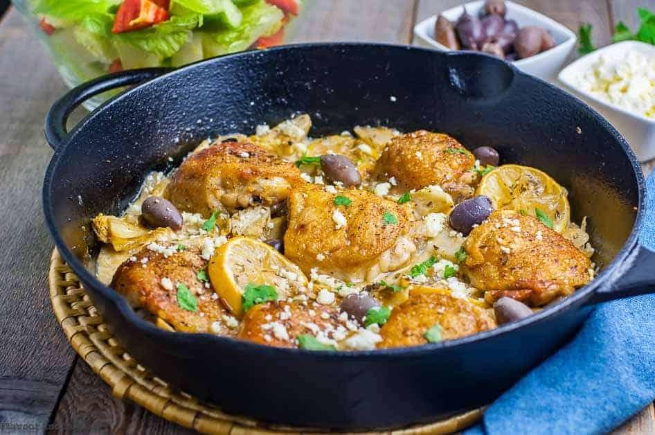One Pan Lemon Artichoke Chicken
