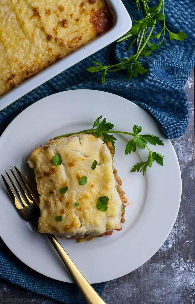 Shepherd's PIe with Mashed Cauliflower Crust