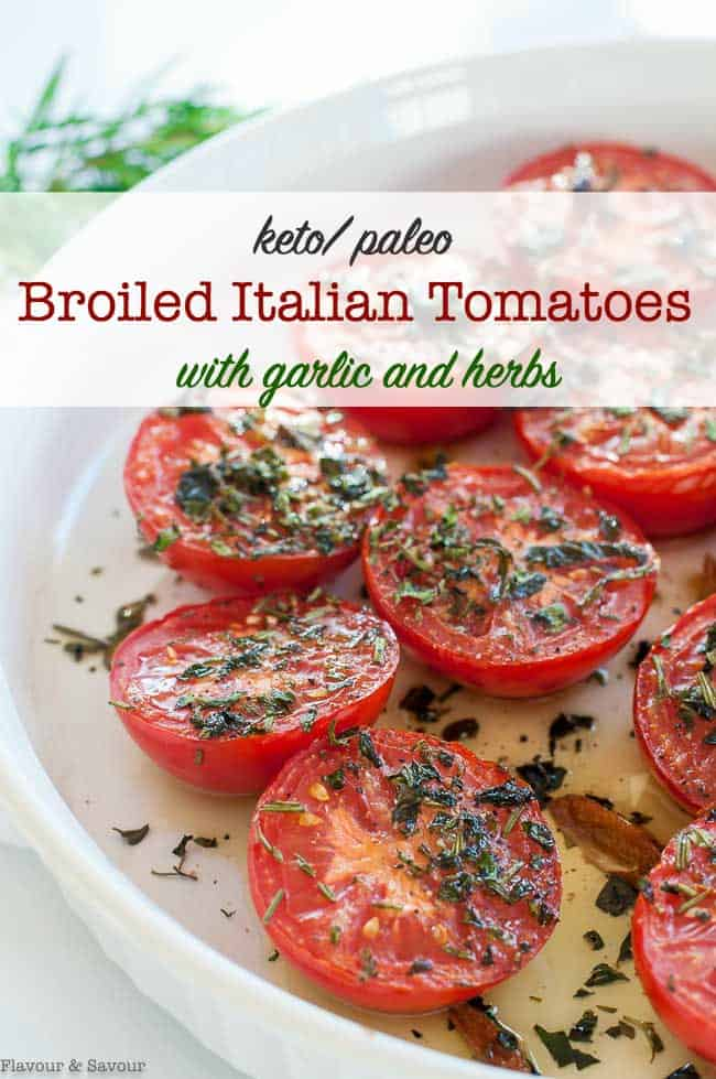 Broiled Italian Tomatoes title