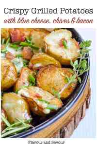 Pin for Potatoes with Blue Cheese in foil