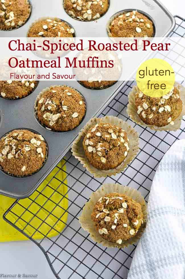Title for Chai-Spiced Roasted Pear Muffins