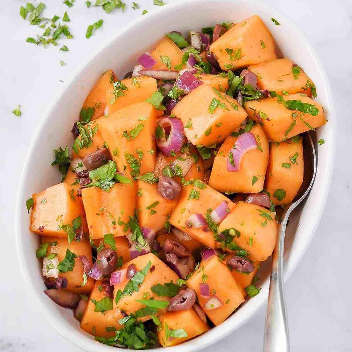 cantaloupe salad preparation