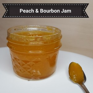 Peach and Burbon artisan jam handmade by Flavour in a Jar using fresh ingredients.
