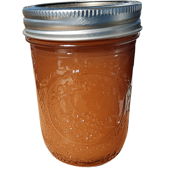 Peach and lavender artisan jam made with fresh and local ingredients from Flavour in a Jar.
