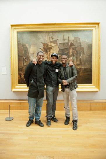 L2R Poetry Luv Founders Anthony Douglas, Elijah Kerr, Guest artist George The Poet